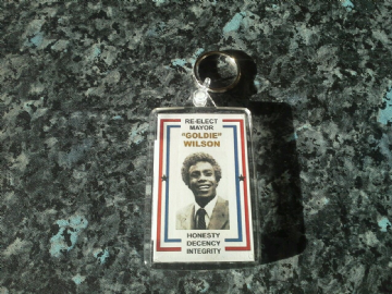 Re-Elect Mayor Goldie Wilson Jumbo Keyring. Inspired by Back to the Future
